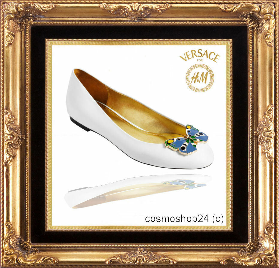 Versace Cruise for H&M Ballerinas aus Lackleder.Gr. 7 40, US 9, UK 7 Lackleder.Gr. Neu+ Etikett ccfa19