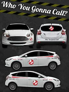 Ghostbusters ECTO  Custom Vinyl Decal Sticker Kit Vinyl Car - Custom vinyl stickers for cars