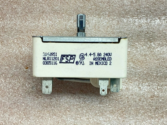 Whirlpool Range Surface Element Control Switch 3148951 WP3149404