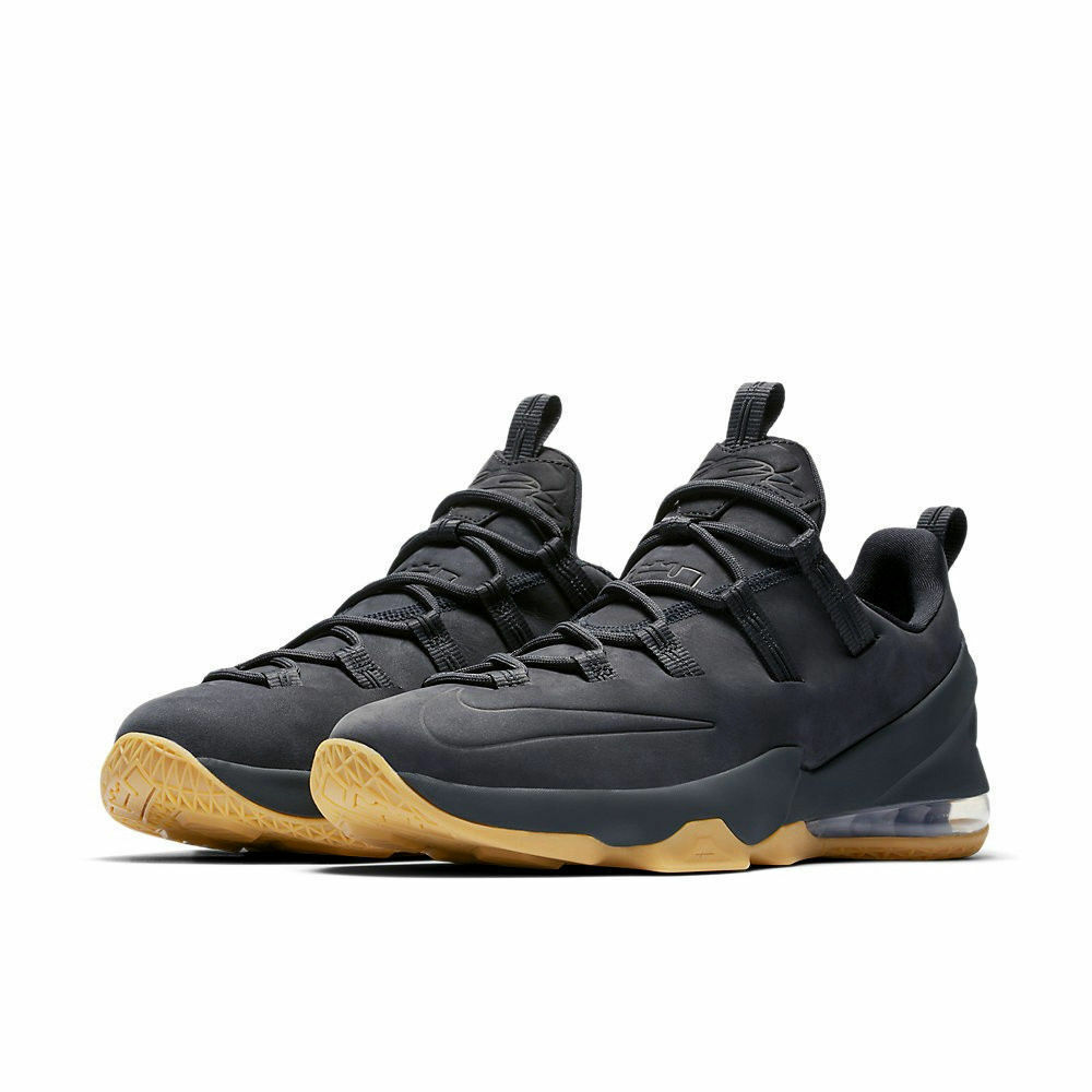 promo code 0c291 831ba Nike Lebron XIII Low PRM Anthracite Anthracite Anthracite Dark Grey Suede  AH8289-001 Multiple Sizes