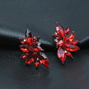 Women-Bridal-Crystal-Rhinestone-Drop-Dangle-Ear-Stud-Earrings-Jewelry