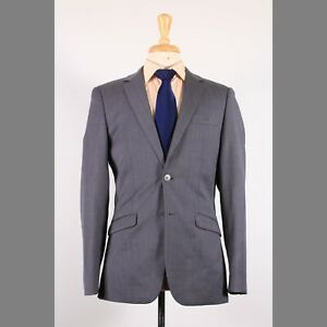 Moods of Norway 38R Gray Solid Wool Two Button Sport Coat Blazer Jacket