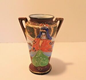 Japanese Hand Painted Miniature Vase, Made in Japan Oriental Vintage Collectible