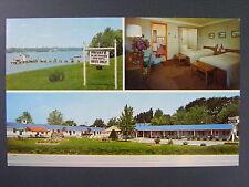 Amherstburg Ontario Canada Lake Erie Blue Haven Lodge Motel Postcard 1950s Vtg