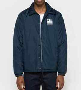 VESTE-HOMME-CARHARTT-STATE-PILE-COACH-JACKET-navy-TAILLE-XL-VAL-130
