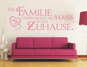 X18-WANDTATTOO-Spruch-Die-Familie-verwandelt-Haus-in-Zuhause-Wandaufkleber