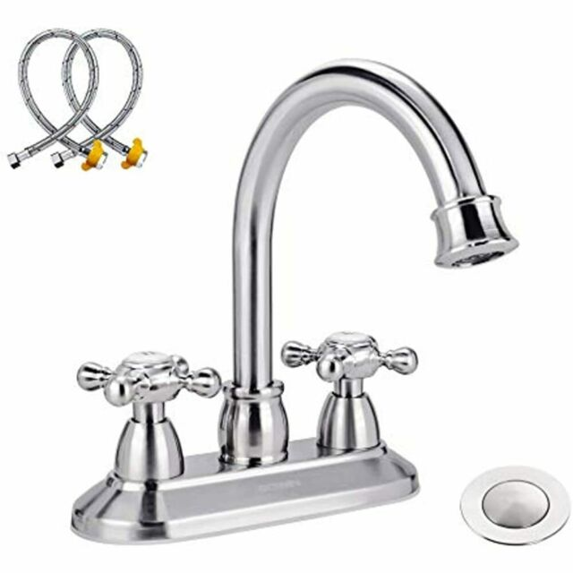 Bathroom Sink Faucet With Water Supply Lines & Pop Up ...