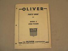 Oliver Tractors Model 3 Corn Picker Service Parts Book Catalog Manual 1956