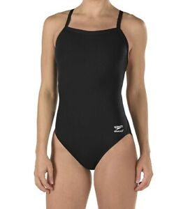 Speedo Women Swimwear Black 6 /32 Endurance One-Piece Flyback Swimsuit $69 207