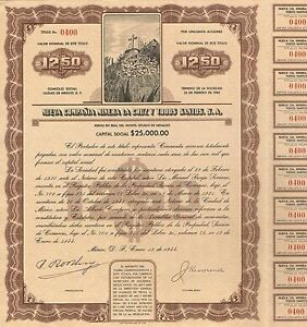 MEXICO NATIONAL RAILROAD GOLD BOND stock certificate 1902
