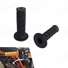 """Black Universal Soft Rubber 7/8"""" Hand Grips Fit ATV MX Pit Dirt Bike Motorcycle"""