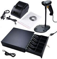 Quickbooks Aldelo POS: USB Thermal Receipt Printer, Barcode Scanner, Cash Drawer