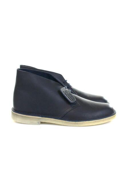 Men's Clarks Originals Desert Boots Dark Navy Tumbled Leather 261 25548
