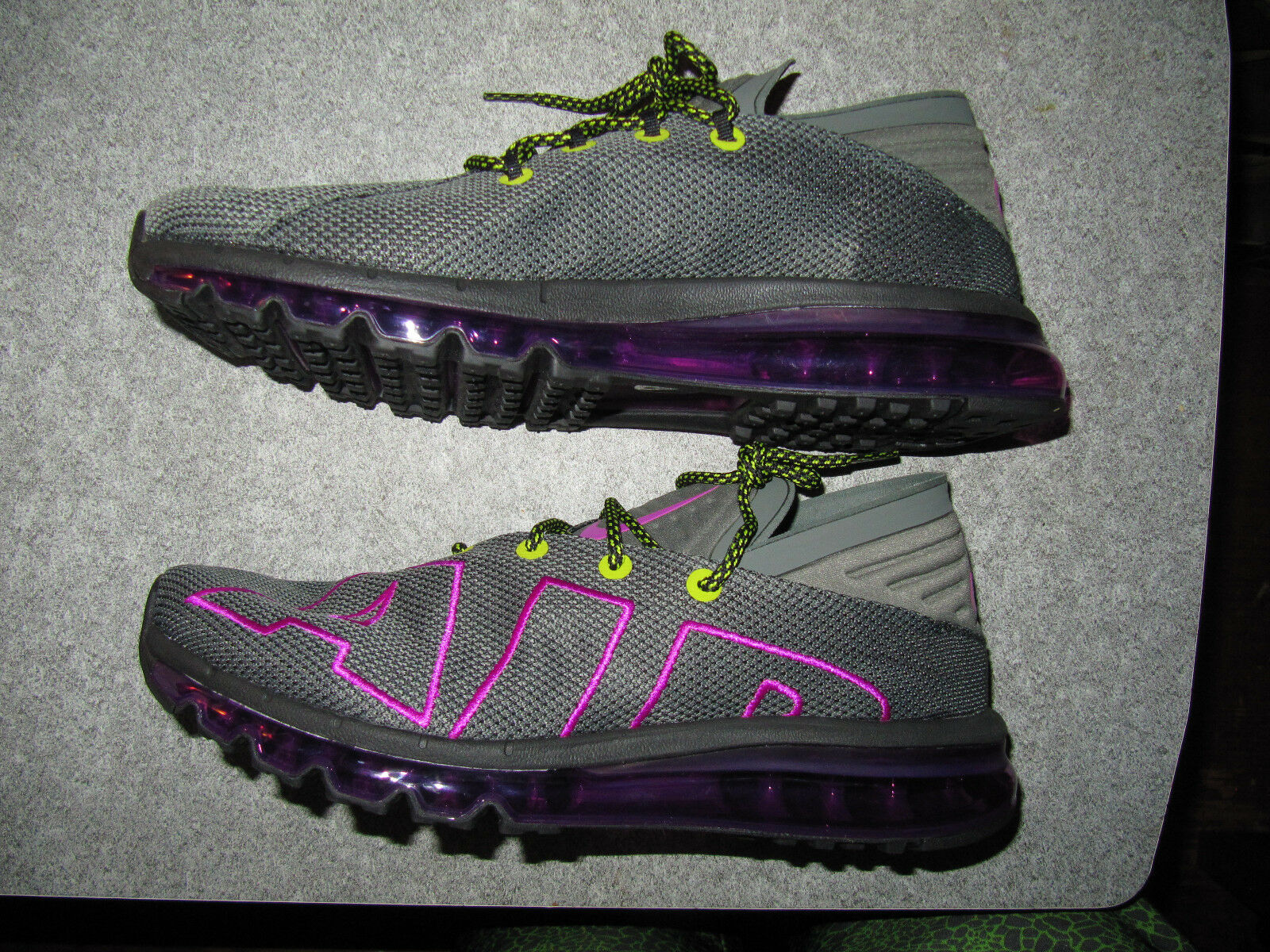 NEW Mens Nike Air Max Flair Up Tempo Running Gray Purple Volt AH9711-001 Sz 9.5