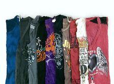 Mixed Brand Affliction/Diesel Lot of 10 Juniors Graphic T-Shirts Medium M BL9647