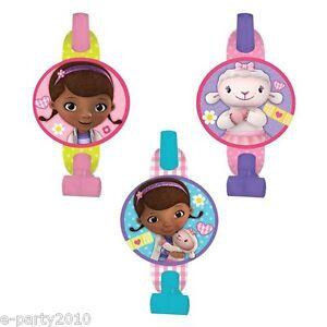 652d7612fee0 Details about DOC MCSTUFFINS BLOWOUTS (8) ~ Birthday Party Supplies Favors  Disney Junior Pink