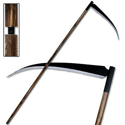 Grim Reaper Death Personified Monster Sharp Scythe 80 Inches Carbon Steel Blade