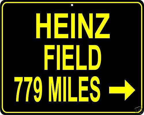"""Pittsburgh Steelers Heinz Field LARGE 12/""""x15/"""" Metal sign distance to your house"""