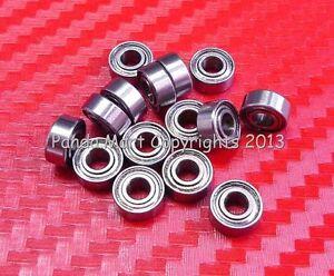 10pc 682XZZ (2.5x6x2.6mm) Metric Shielded Ball Bearing 2.5 6 2.6