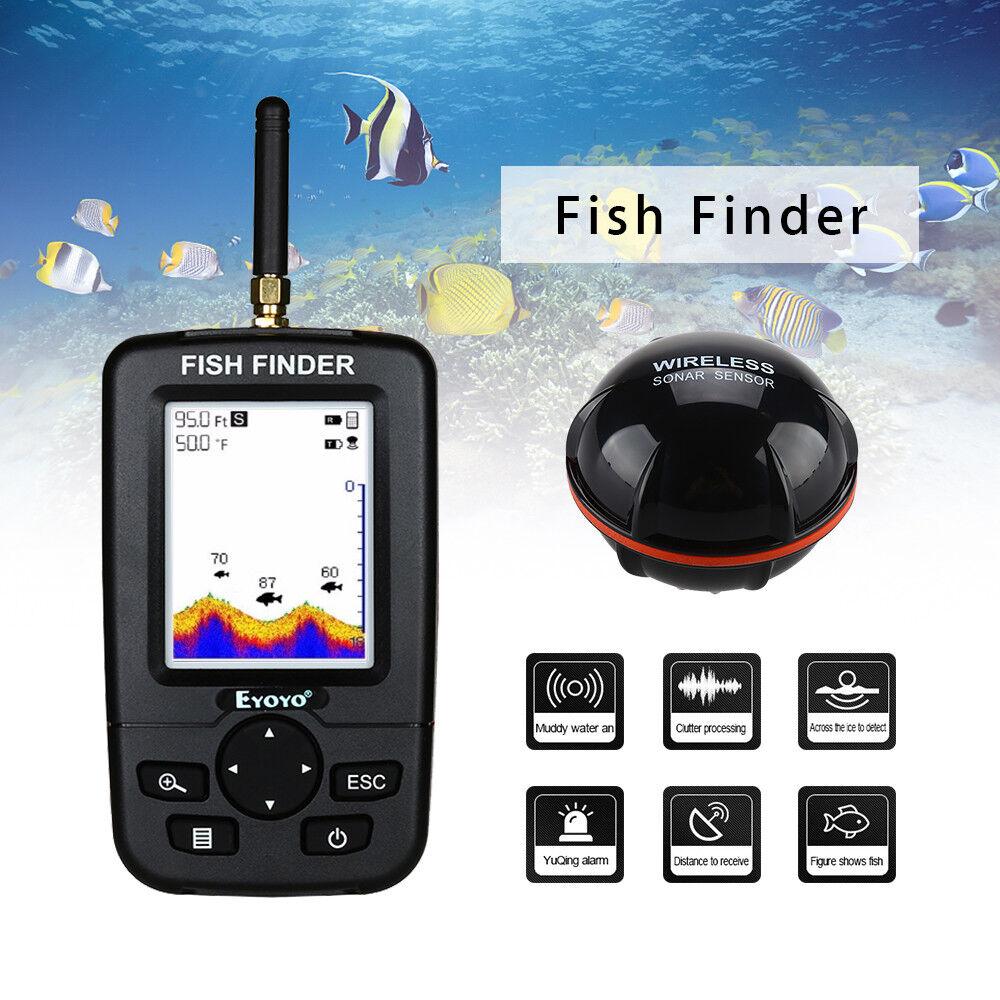 Intelligenter Fisch-Sucher 45M 45M 45M drahtlosem Sonar-Sensor-Fluss-Ozean Fishfinder 2729a9