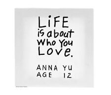 Kid's Quotes - LIFE IS ABOUT WHO YOU LOVE canvas wall art - #KQ-WA-ACK011