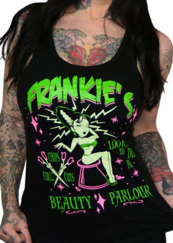 Looks To Die For Frankies Beauty Parlour Racerback Tank Top by Pinky Star