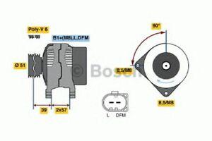 BOSCH Brand New ALTERNATOR UNIT for VW GOLF V 1.4 TSI 2005-2008