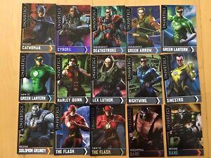 Lot-of-15-Injustice-Gods-Among-Us-Arcade-REGULAR-amp-Holofoil-Cards-1-15