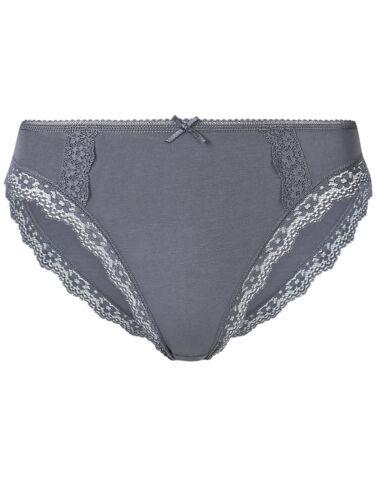 M/&s Coton Gris Dentelle Hipster Culottes//Slips//Culotte Taille 6//8//10//12//14//16//18