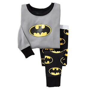 Jungen Mädchen Batman Jogginganzug Kapuzepullover Tops Hose Outfit Sets Kleidung