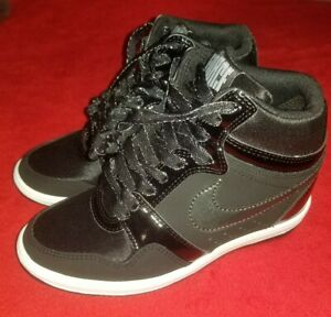 Details about Womens NIKE AIR FORCE SKY HIGH Wedge BLACK ANTHRACITE 629746 001 U.S SIZE 5.5