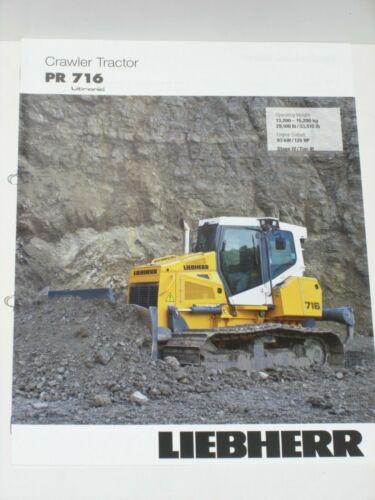 LH 10 LIEBHERR Crawler Tractor PR 716 Prospekt von 02//2016 in englisch