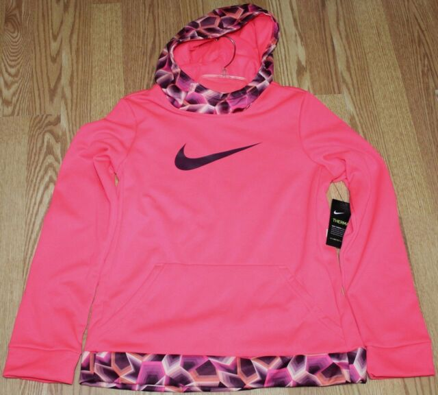 44c4742d6 Girl s Nike Therma Pullover Training Hoodie Sweatshirt Bright Pink ...