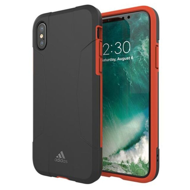 separation shoes 59101 ccf91 Adidas Originals Doble Capa Funda para Apple Iphone X   XS Bolsa Ipad Rojo