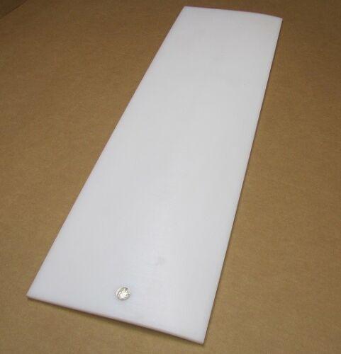 "Tivar UHMW PE White Sheet .375/"" 3//8/"" Thick x 12/"" x 36/"""