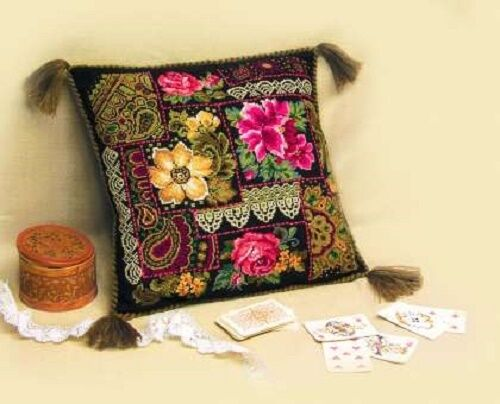 "Counted Cross Stitch Kit RIOLIS 761 /""Flowers Arrangement Cushion/"""