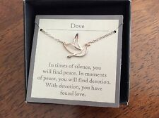 Avon 975 Sterling Silver Infinite Meaning Necklace DOVE NIB