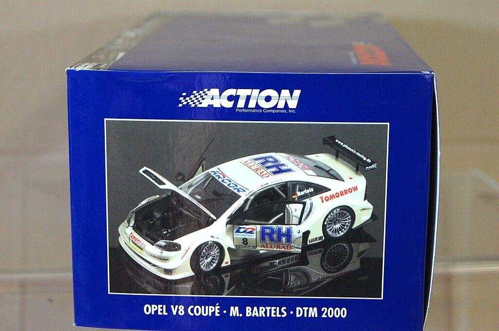 Action 034334 MINICHAMPS 1 18 Opel V8 Coupé M BARTELS 8 DTM 2000 Comme neuf BOXED NC