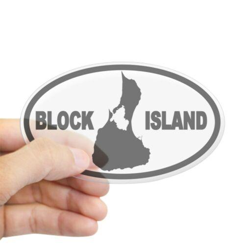 Oval 177934475 CafePress Block Island Map Oval Sticker Sticker