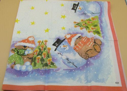 Mitteldecke Duni Tischdecke aus Dunicel Weihnachtstischdecke 84x84cm