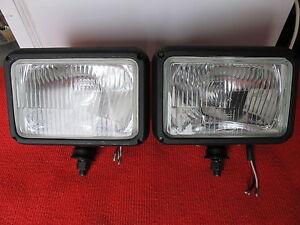 2x-Zusatzscheinwerfer-NEU-H4-Schneepflug-Auf-und-Abblendlicht-passend-f-Multicar