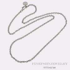 Authentic Sterling Silver Ti Sento Milano Cable Link Chain 3771SI/48
