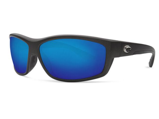 bf6047c0cfb27 NEW Costa Del Mar SALTBREAK Steel Gray Metallic   580 Blue Mirror Glass 580G