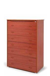 Settimino gigante  colore ciliegio in legno a 7 cassetti moderno