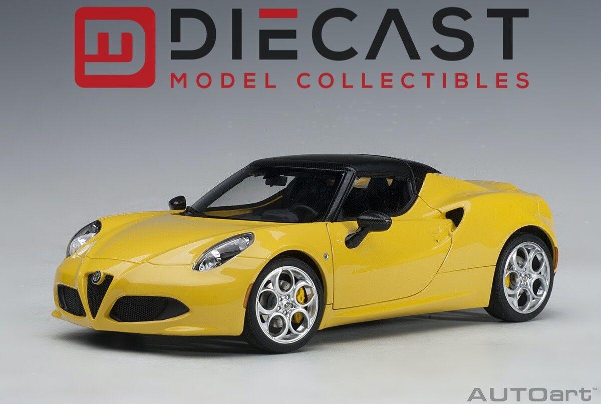 AUTOART 70143 ALFA ROMEO 4C SPIDER (yellow PredOTIPO YELLOW) 1 18TH SCALE