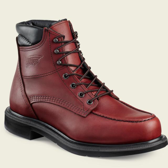 rosso Wing 202 Work avvio Men's 6-Inch( Electrical Hazard, Oil Gas Slip Resistant)