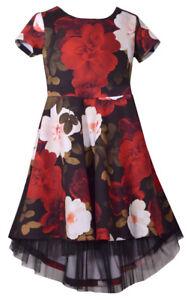 a61512315fd Bonnie Jean Big Girls 7-16 Short Sleeve Floral Scuba High low ...