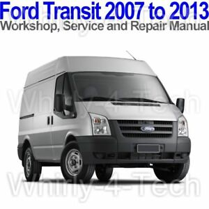 ford transit 2007 to 2013 workshop service and repair manual on cd rh ebay com ford econoline repair manual free download 1996 ford econoline repair manual
