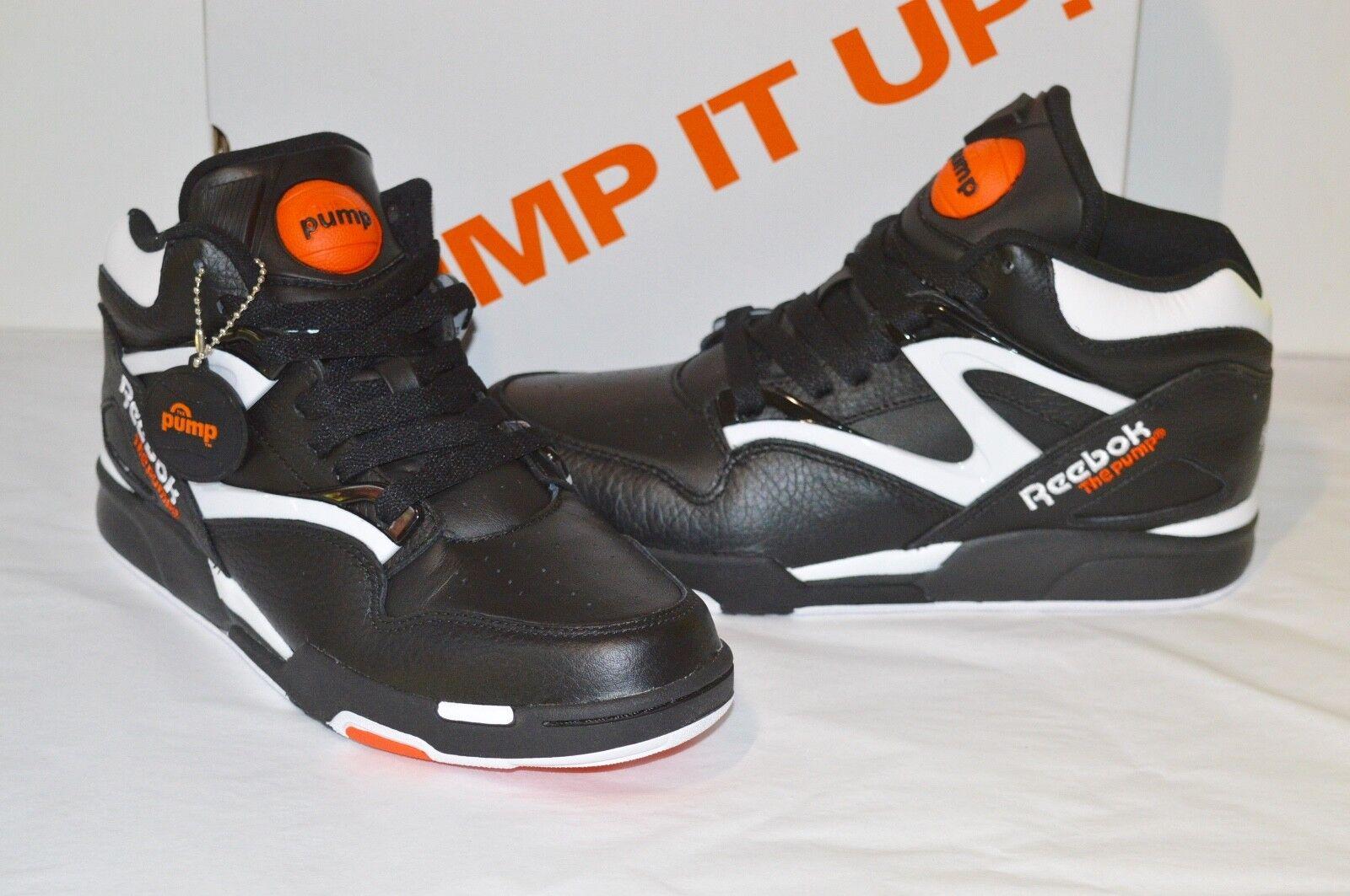 8e34dced17f Reebok Pump Omni Lite SNEAKERS Dee Brown Black White Varsity Orange ...