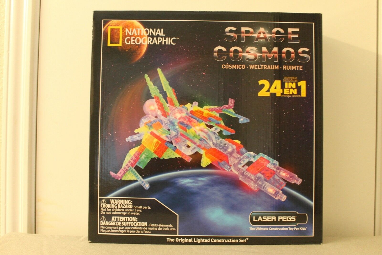National Geographic Space Cosmos Laser Pegs NEW Lighted Construction Set 24 In 1